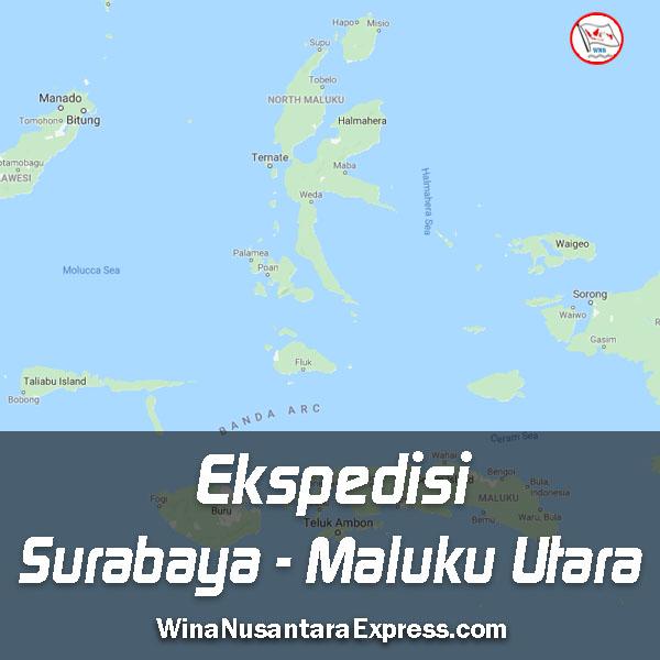 ekspedisi surabaya maluku utara